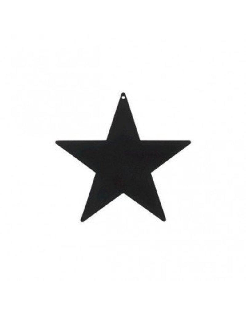 "Black Foil Star Cutouts 12"""