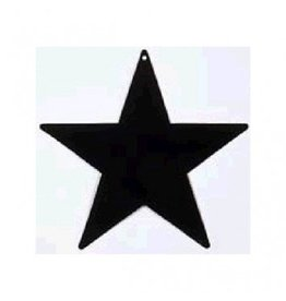 Black Foil Star Cutouts 15""