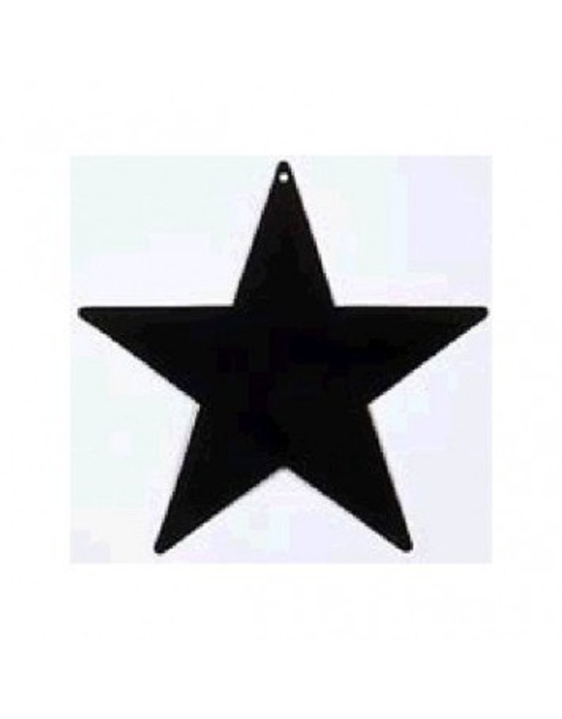 "Black Foil Star Cutouts 15"""