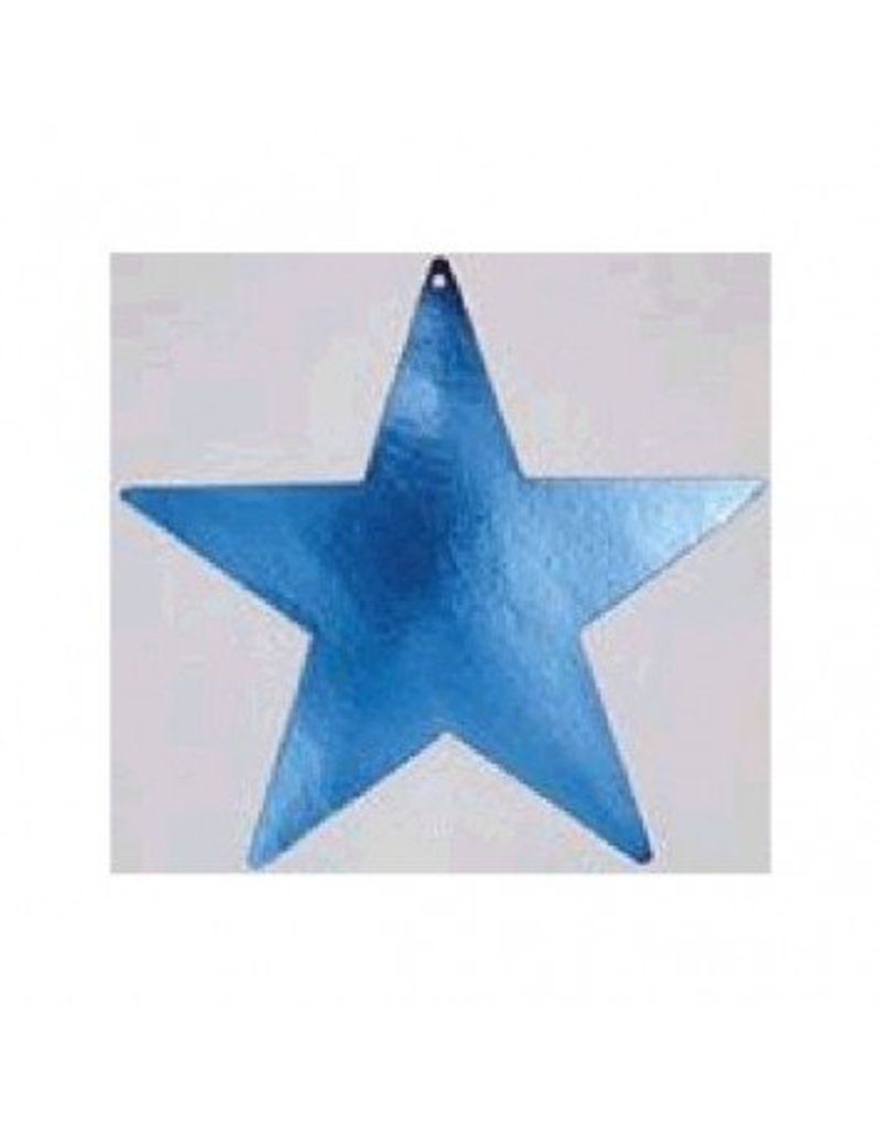 "Blue Foil Star Cutouts 15"""