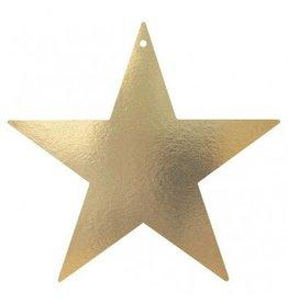 "Gold Foil Star Cutouts 15"""