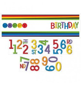 Rainbow Birthday Giant Banner Kit