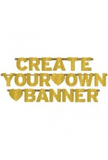 Gold Glitter Customizable Banner