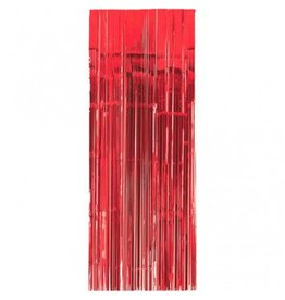 Apple Red Metallic Door Curtain