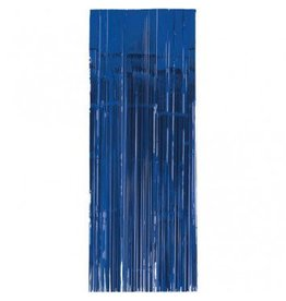 Bright Royal Blue Metallic Door Curtain