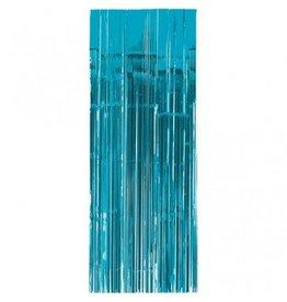 Caribbean Blue Metallic Door Curtain