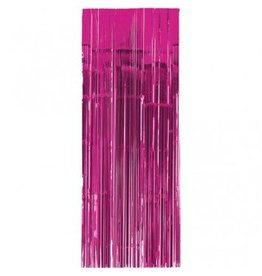 Bright Pink Metallic Door Curtain