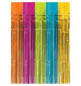 Bright Multi-Colour Metallic Door Curtain