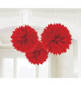 Apple Red Fluffy Decorations (3)