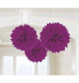 New Purple Fluffy Paper Decoration (3)