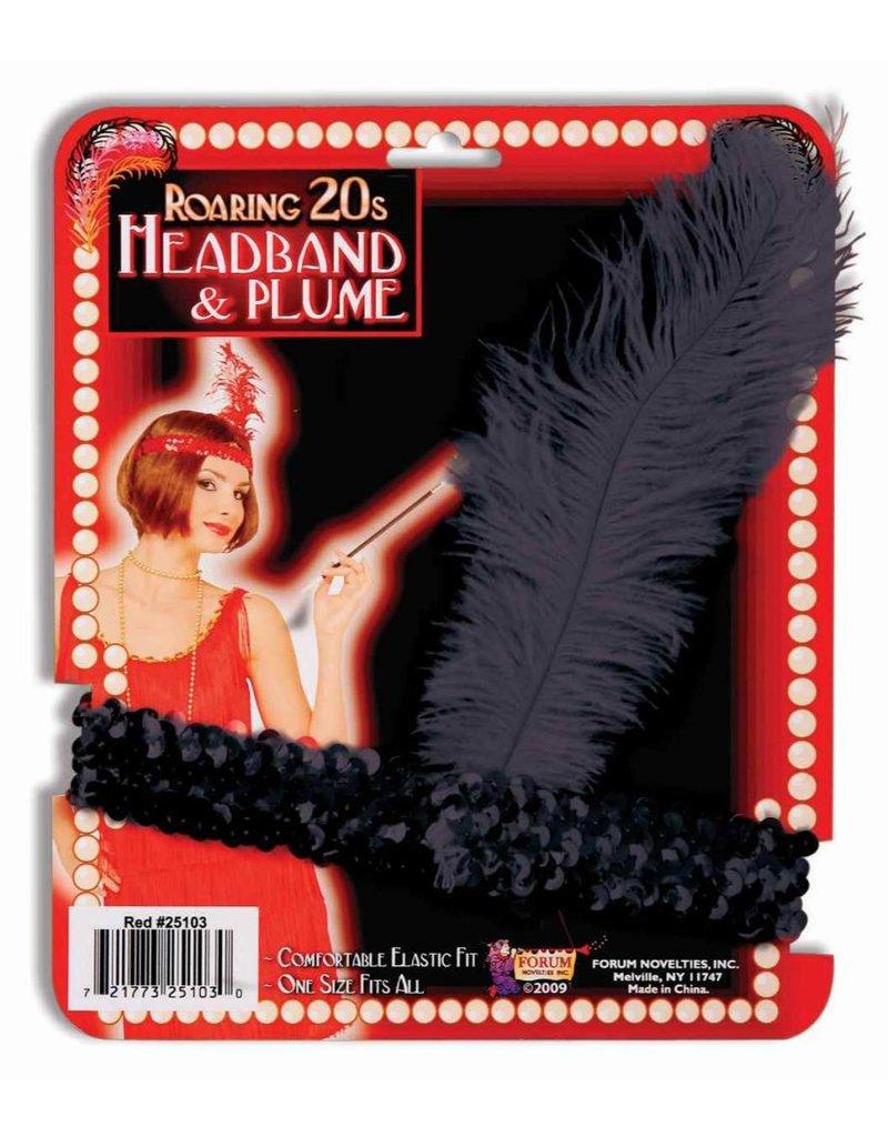 Black Flapper Headband