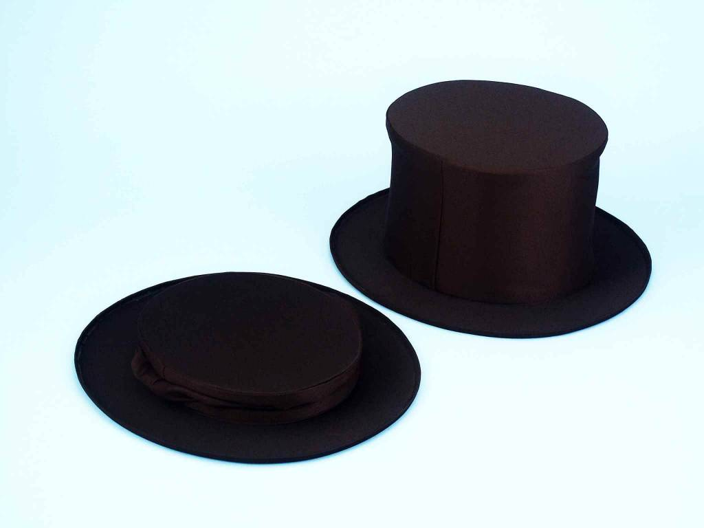 Black Collapsible Top Hat