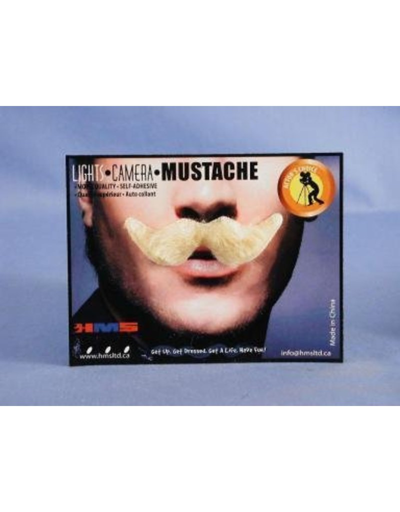 Debonair Blonde Moustache
