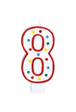 #8 Numeral Candle