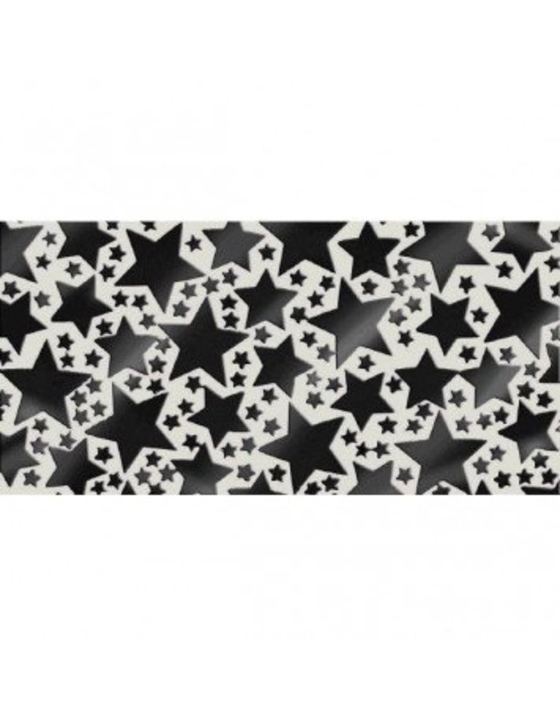 Black Metallic Star Confetti