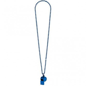 Blue Whistle On Chain Necklace
