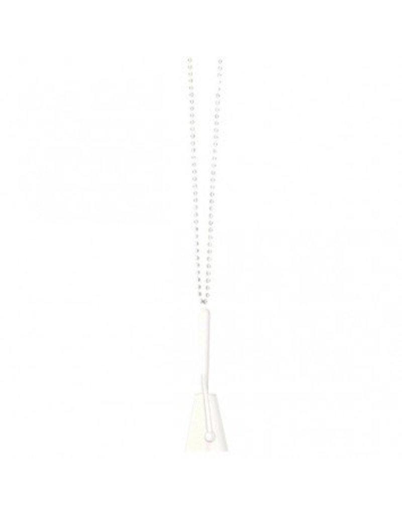 Clacker Necklace White