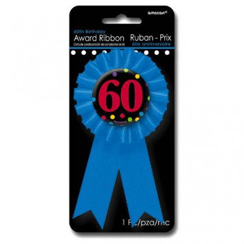 60th Award Ribbon Button
