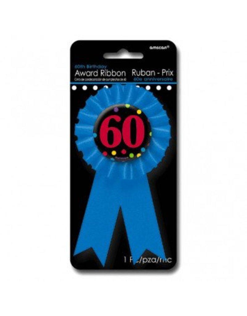 60th Award Ribbon Button