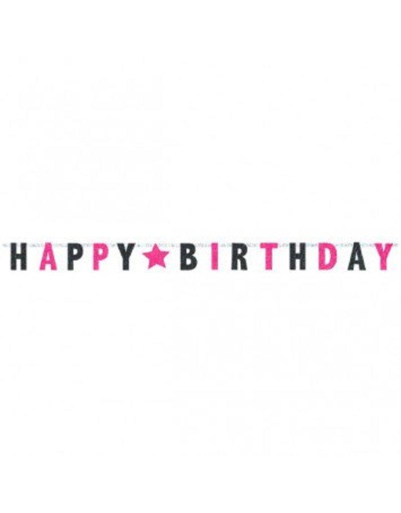 Black & Pink Prismatic Letter Banner