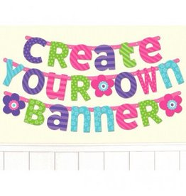 Purple/Teal Customizable Letter Banner