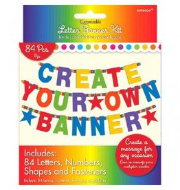 Multi Colour Customizable Letter Banner