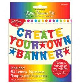 Rainbow Customizable Letter Banner