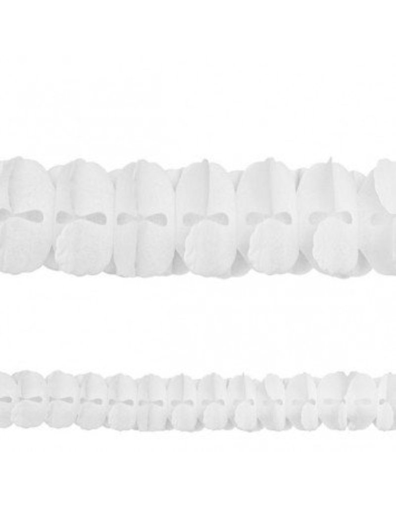 Frosty White Paper Garland 12'