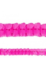 Bright Pink Paper Garland 12'