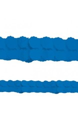 Bright Royal Blue Paper Garland 12'