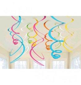 Multi Plastic Swirl Decorations (12)