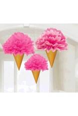 Ice Cream Cone Fluffy Decorations  (3)