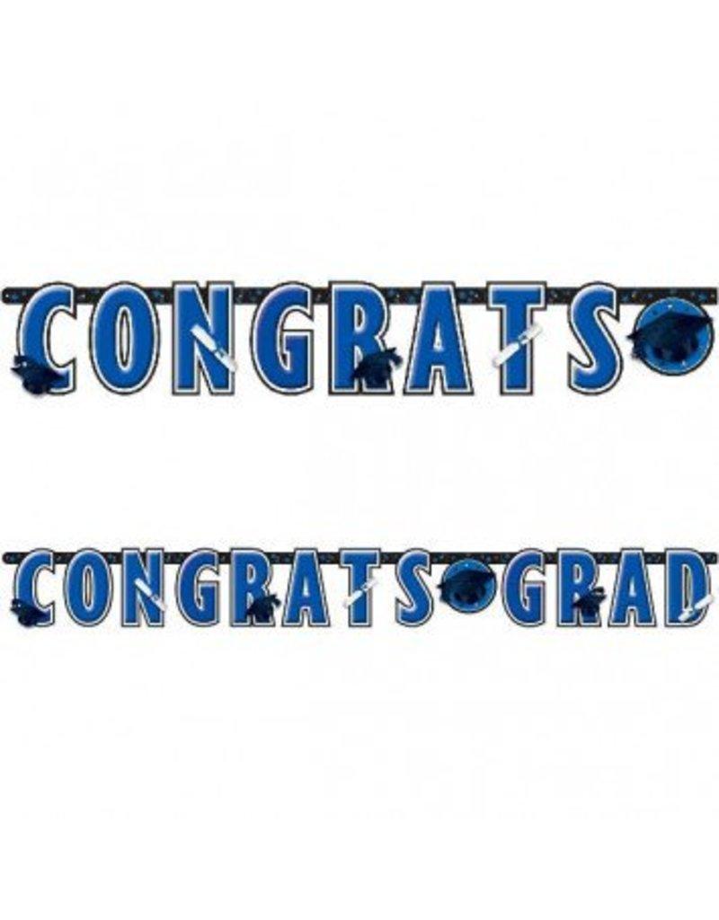 Banner Letter Giant Graduation Bright Royal Blue