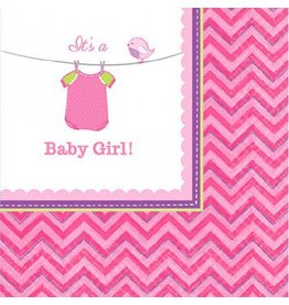 Shower with Love Girl Beverage Napkins (16)