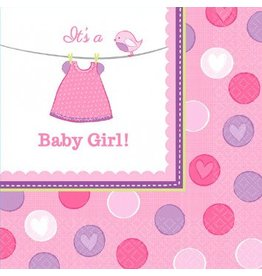 Shower w/Love Girl Luncheon Napkins