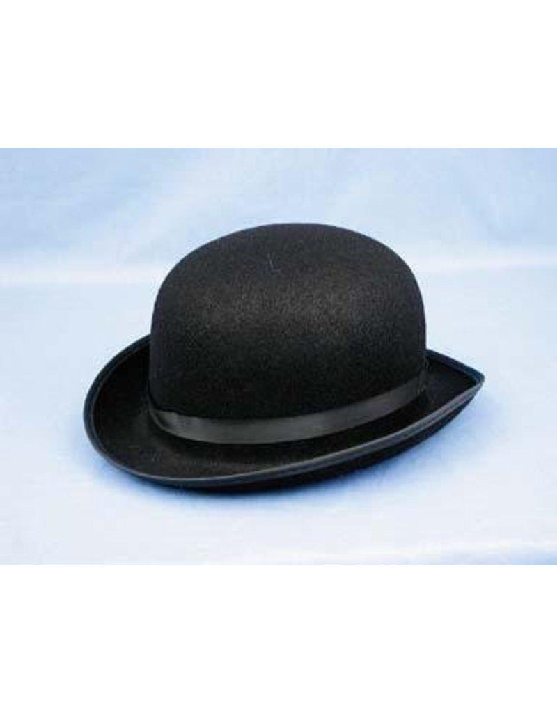 Black Felt Derby Hat