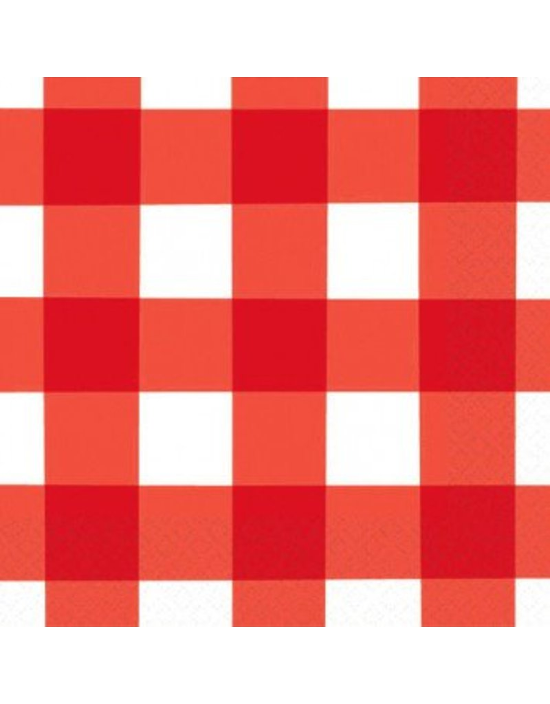 American Summer Gingham Beverage Napkins (16)