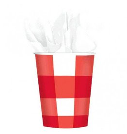 American Summer Gingham 9oz Cups (8)