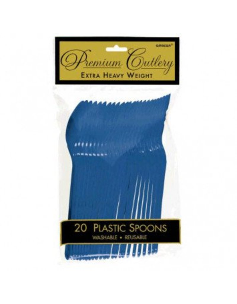 Bright Royal Blue Premium Spoons (20)