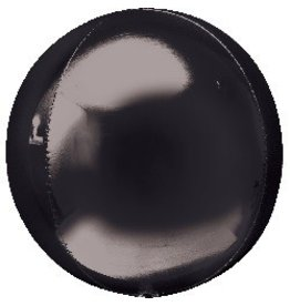 Bubble Black Orbz Mylar Balloon