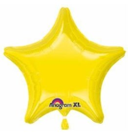 Citrine Yellow Star Mylar Balloon