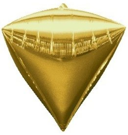 Gold Diamond Mylar Balloon