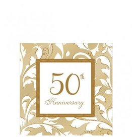 50th Anniversary Beverage Napkins (16)