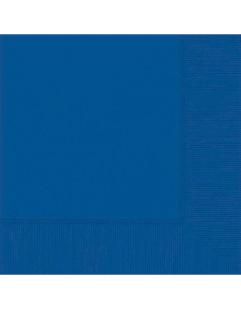 Bright Royal Blue Lunch Napkins 3-Ply (50)