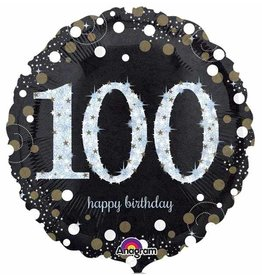 "100 Sparkling Birthday Mylar 18"" Balloon"
