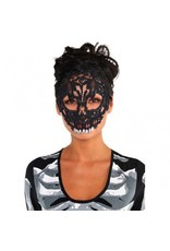 Black Lace Skull Mask