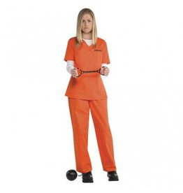 Women's Costume Orange Inmate Standard
