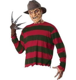 Men's Costume Freddy Krueger With Mask, Glove, and Fedora Standard
