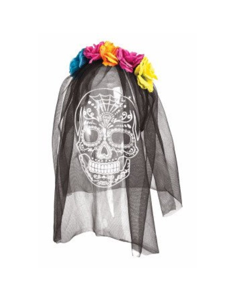 Day Of the Dead Printed Veil