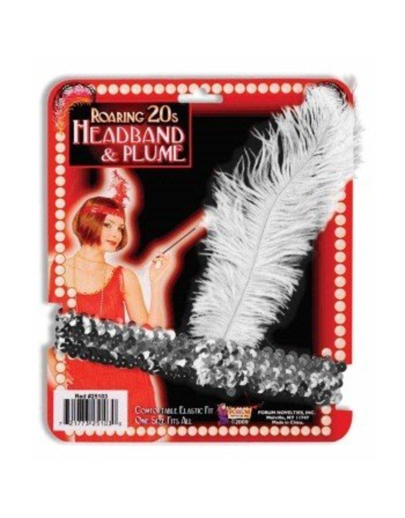 Flapper Headband Silver